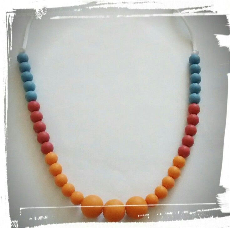 Collier de dentition, silicone teething necklace