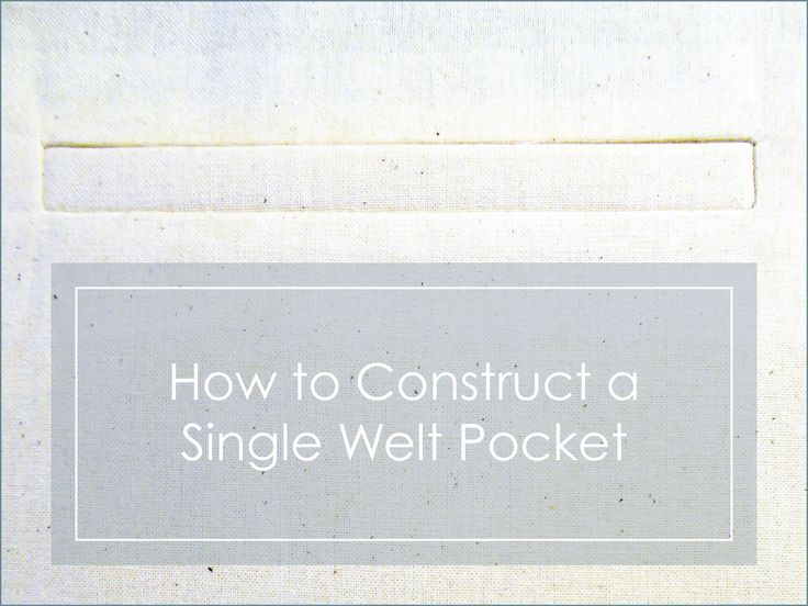 how to open a welt pocket