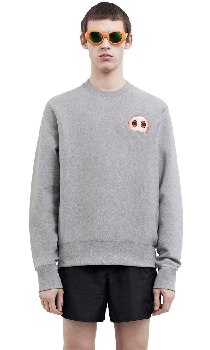 #AcneStudios Fall nose sweatshirt from the emoji capsule collection