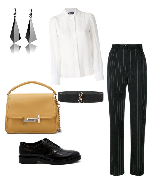 """""""Lovely Casual shopping day outfit"""" by irini-stam on Polyvore featuring Seen, Yves Saint Laurent, Tod's and Vanessa Seward"""