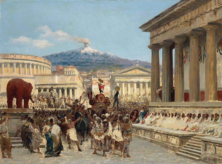 The people of Catania celebrate a victory over the Libyans ...