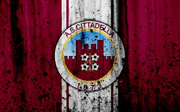 Download wallpapers Cittadella, 4k, grunge, Serie B, football, Italy, soccer, FC Cittadella, stone texture, football club, Cittadella FC
