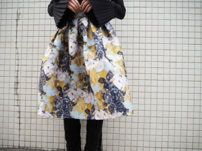 タックフレア柄スカート ¥8900+TAX