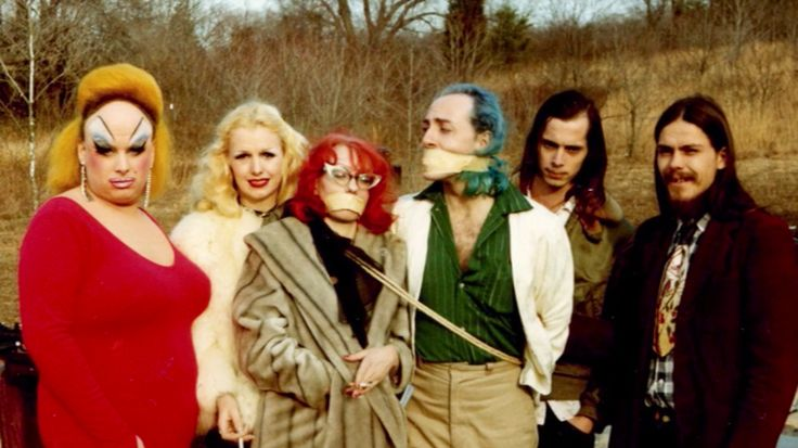 divineofficial: Divine, Mary Vivian Pearce, Mink Stole, David Lochary, John Waters and Danny Mills on the set of Pink Flamingos