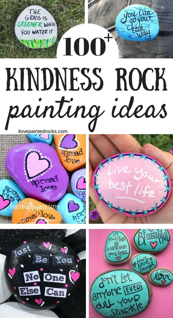 100 Kindness Rock Painting Ideas Sayings Painted Rocks Kids Inspirational Rocks Rock Painting Ideas Easy