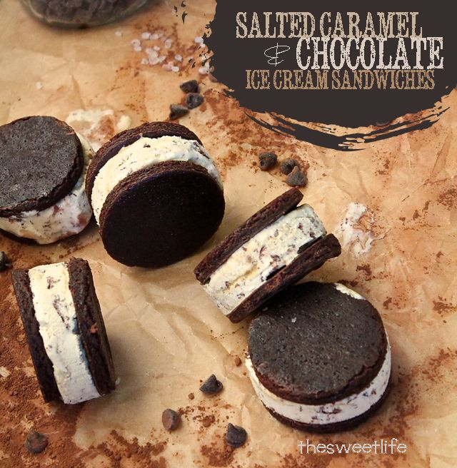 Vegan Salted Caramel & Chocolate Ice Cream Sandwiches
