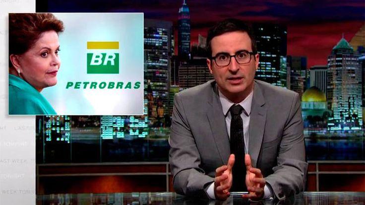 John Oliver satiriza Dilma e Petrobas