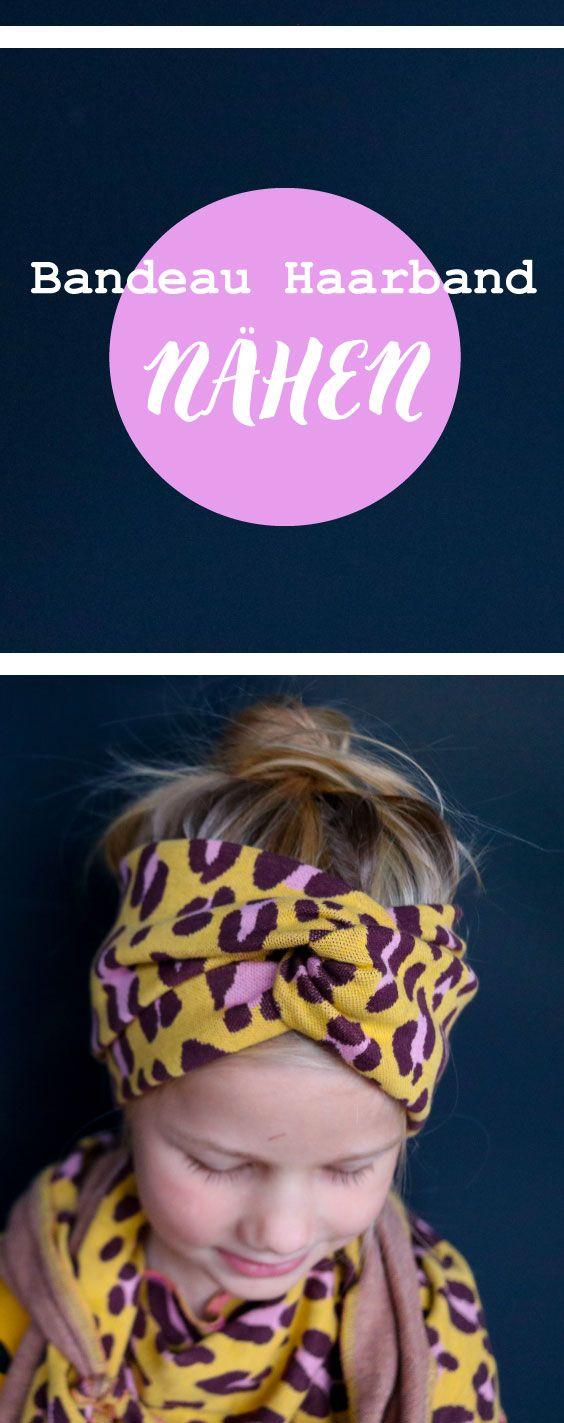 Ein tolles Bandeau Haarband oder Stirnband ohne Sc…