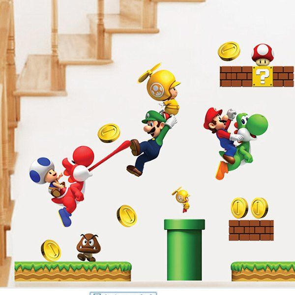 $1.71 Good Quality Cartoon Game Theme Waterproof Decorative Wall Sticker