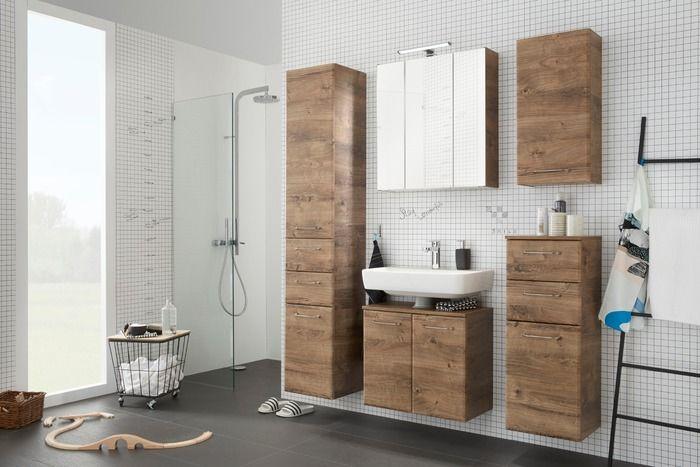 Pelipal Waschbeckenunterschrank Filo Eiche Ribbeck Spiegelschrank Oberschranke Badezimmer Dekor