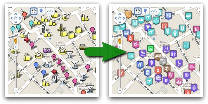 google-maps-icons - More than 1000 free and descriptive map POI markers, icons, for your maps - Google Project Hosting