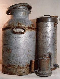 GREAT tutorial on how to clean (& restore or paint) old metal. Perfect for my milk jug project!