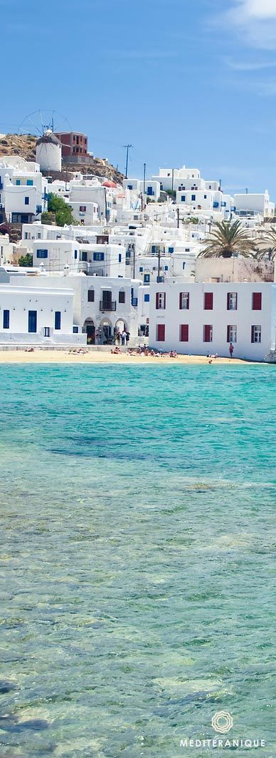 Mykonos Town, a Cycladic style town by the sea in Greece