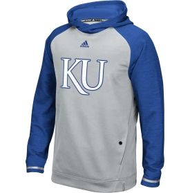 adidas Men's Kansas Jayhawks Grey Sideline Player Hoodie | DICK'S Sporting Goods
