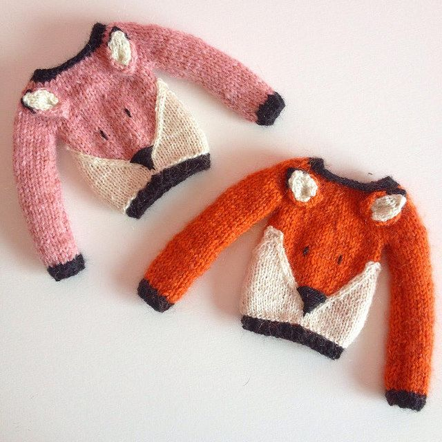Ravelry: AtelierSweetCraft's Blythe Pink Foxy Sweater