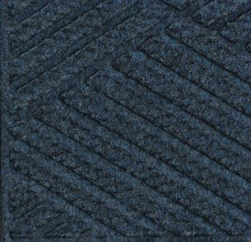 Eco Grand Premier Half Oval Entrance Mat, Indigo, 6u0027 X 3.3u0027 By