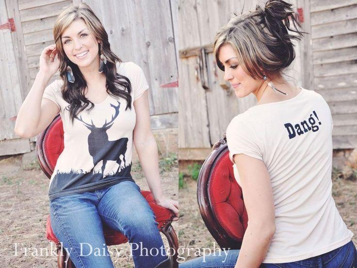 Country Girl Clothing | DANG! Big Buck Country Girl Shirt | CLOTHES