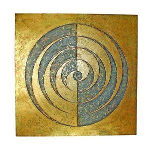 Iron geometric yin yang wall art