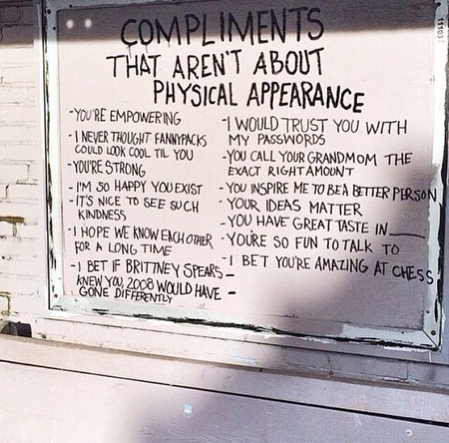Non-physical compliments