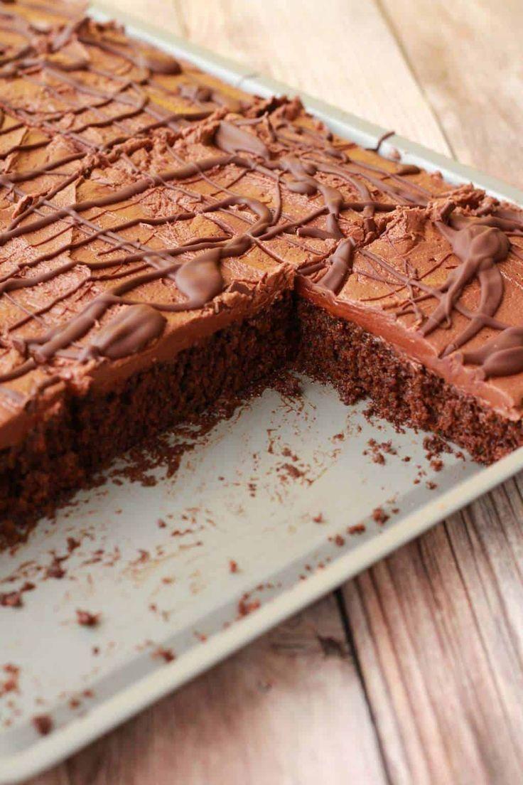 Schokoladenblechkuchen von G.G. – Rezepte für Geburtstagstorten – #Geburtstag #Kuchen #Schokolade …   – Homemade Cake