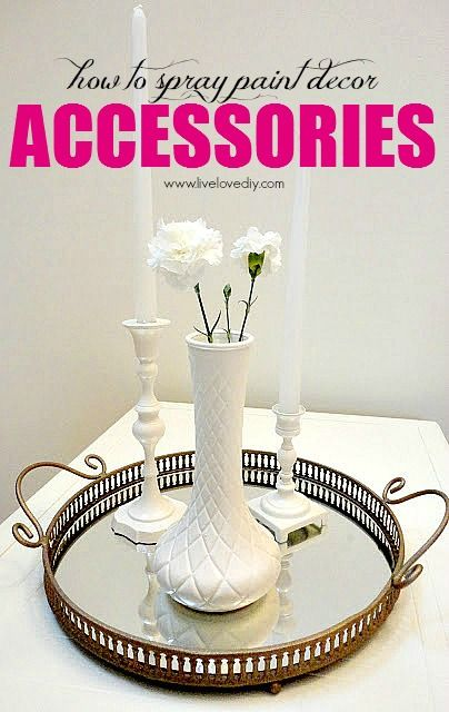 How to spray paint accessories! Great way to upcycle old junk!  I love her blog, it's one of the best ones that i've stumbled upon... Great DIYs!!!!