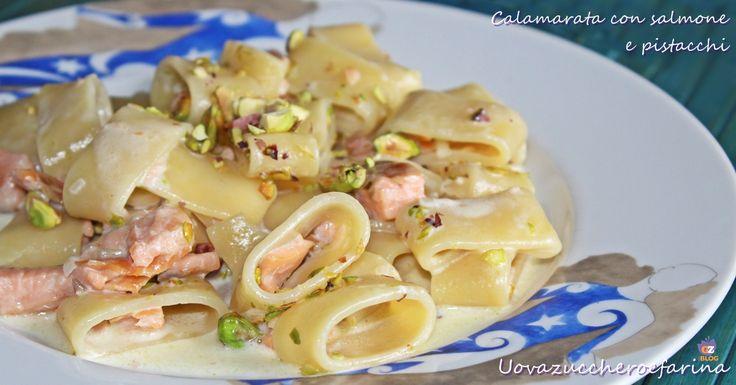 Calamarata con salmone e pistacchi