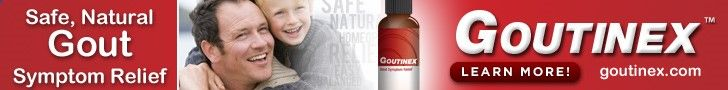 Goutinex - Homeopathic gout remedy for the symptoms of gout and high uric acid relief.