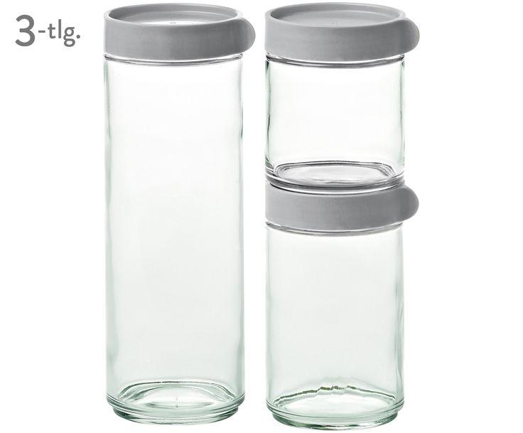 Braucht Jede Küchenfee: Die Gläsernen Vorratsdosen Lotta Mit Grauem  Schraubverschluss Sind Die Perfekten Küchenhelfer.