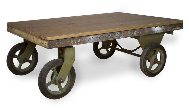 M s de 1000 ideas sobre mesas de centro industriales en for Muebles de efecto industrial