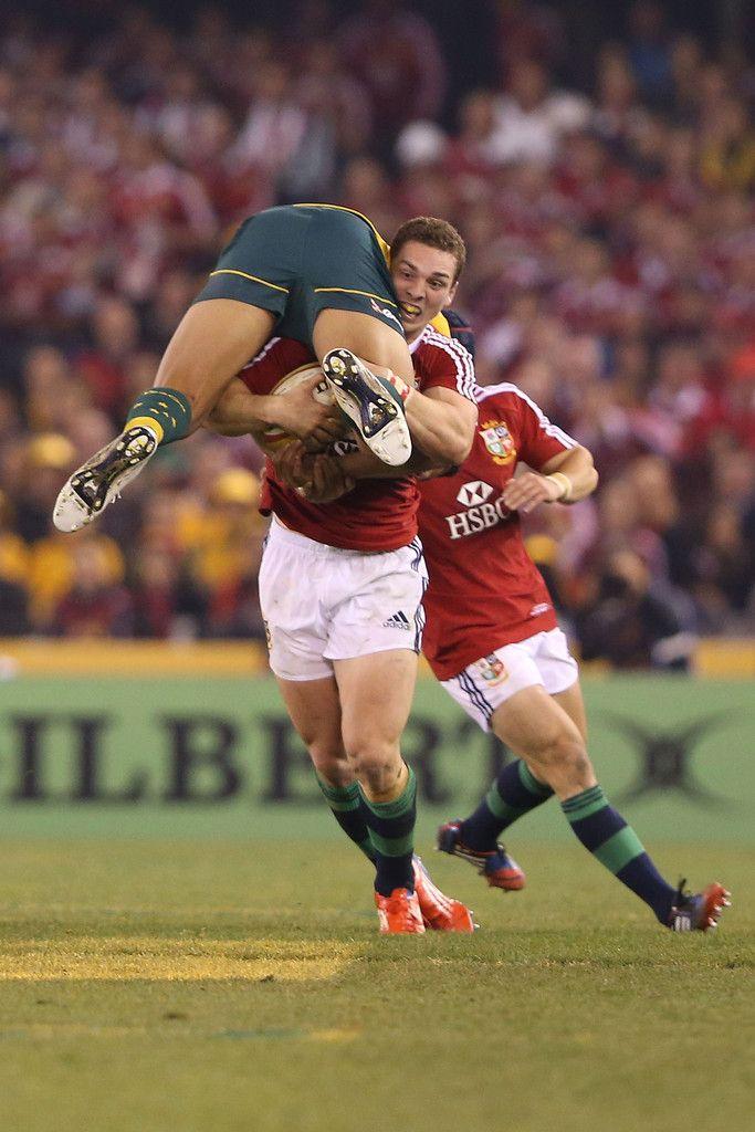 George North picks up Israel Folau, Australia v British & Irish Lions, Game 2, June 2013