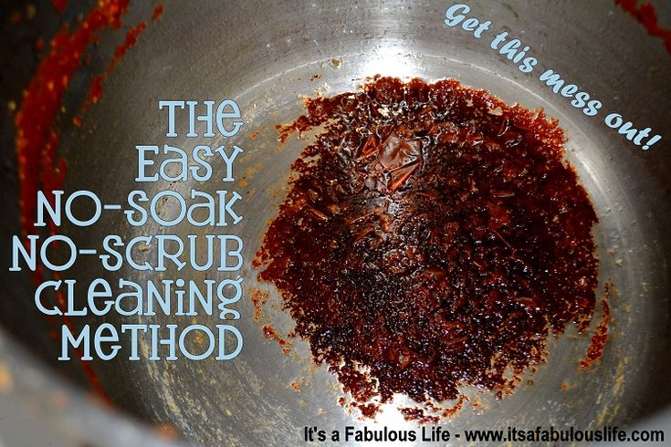 GENIUS! I hate scrubbing the dishes and this really works (did it tonight!) The Easy, No Soak, No Scrub way to clean your dirtiest dishes - It's A Fabulous Life