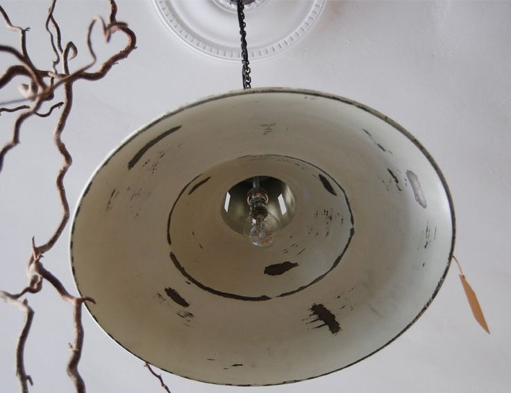 Reclaimed industrial lampshade | Elizabeth Lee Interiors