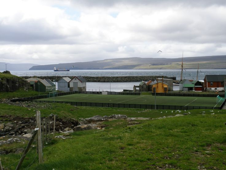 The Faroese are football crazy, so it's no surprise that Nolsoy, even though the population is only about 250, has its own football field!  Whilst I was in the Faores in June 2015, the national football team defeated Greece 2-1, which caused great excitement.