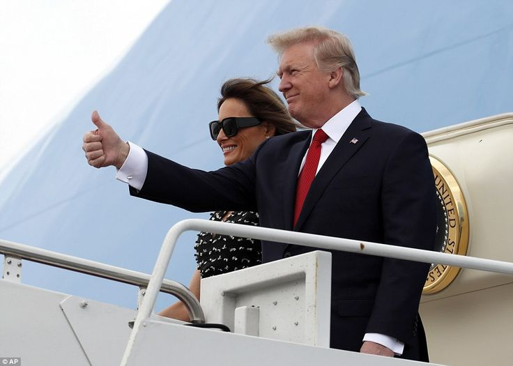 President Trump and First Lady Melania Trump arrived in Palm Beach after them