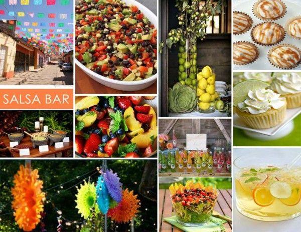 fiesta!!!Fiestas Parties, Decor Ideas, S'Mores Bar, Mexicans Food, Inspiration Boards, Parties Ideas, Mexican Fiestas, Party Ideas, Salsa Bar