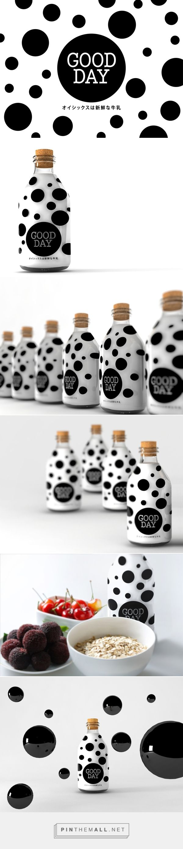 GOOD DAY MILK PACKAGING on Behance curated by Packaging Diva PD. Not exactly the same Jeny but still cute packaging.