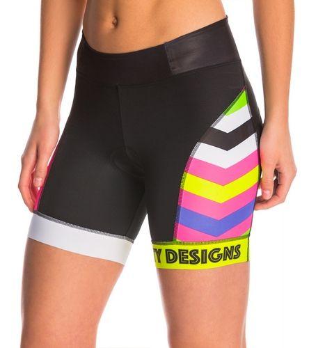 Betty Designs Women's Chevron Triathlon Shorts at SwimOutlet.com – LARGE