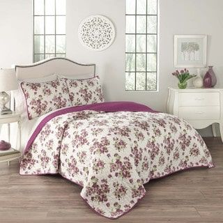 shop for traditions by waverly primrose 3piece quilt set free shipping on orders