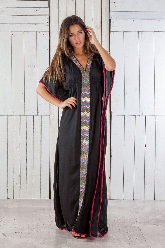 Vestido largo bordado tunica larga vestido de playa Precioso! on Etsy, $3,066.67