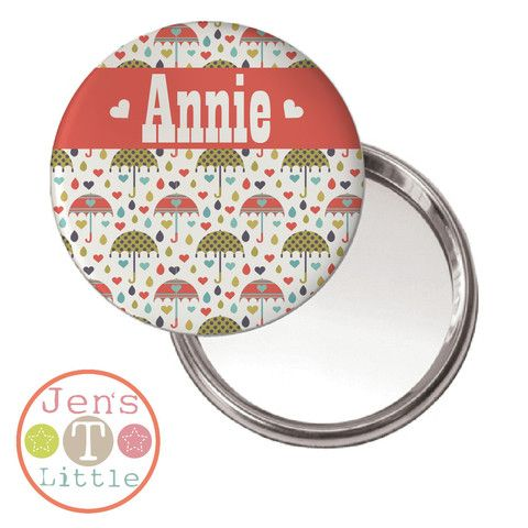 Umberella Love 2 Compact Mirror - Personalised
