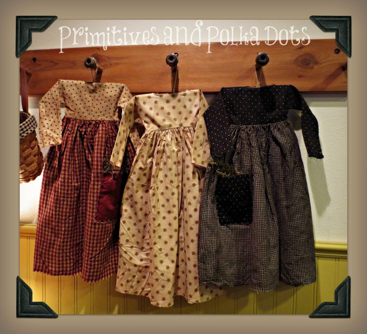 Primitive hanging dresses with pockets by Primitives and Polka Dots