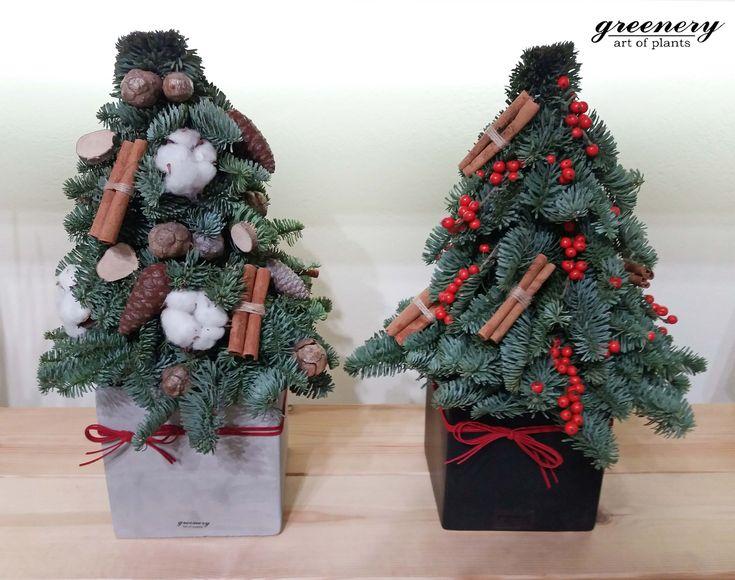 Decorated Christmas trees #greenery #christmas #gifts #christmasdecoration #greece