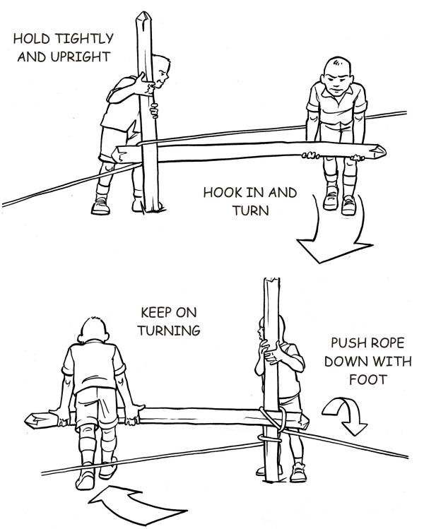 Make a winch from a pole