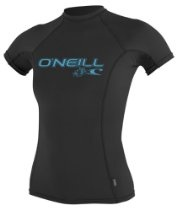 O'Neill Wetsuits Women's Basic Skins Short Sleeve Crew