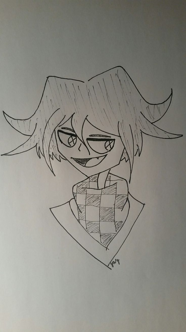 Kokichi Ouma ((Wanted to try a new style but I think it would look better if I had drawn it on my computer))