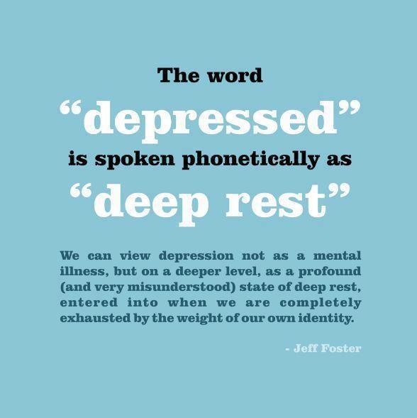 An Alternate Definition Of Depression.