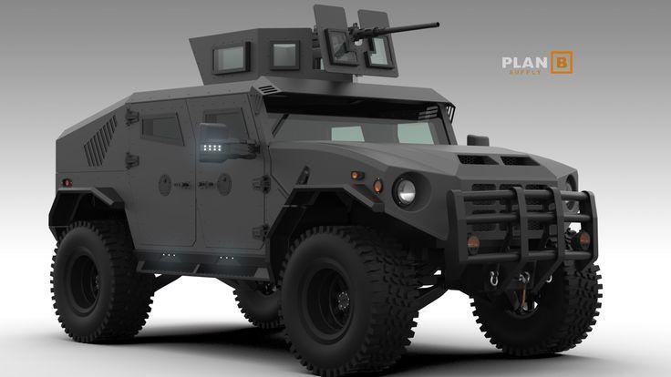 New armored Hummer H1 Alpha Hmmwv humvee design concept ...