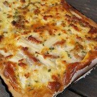 Witte asperge taart met feta en spekjes : Recepten van Domy