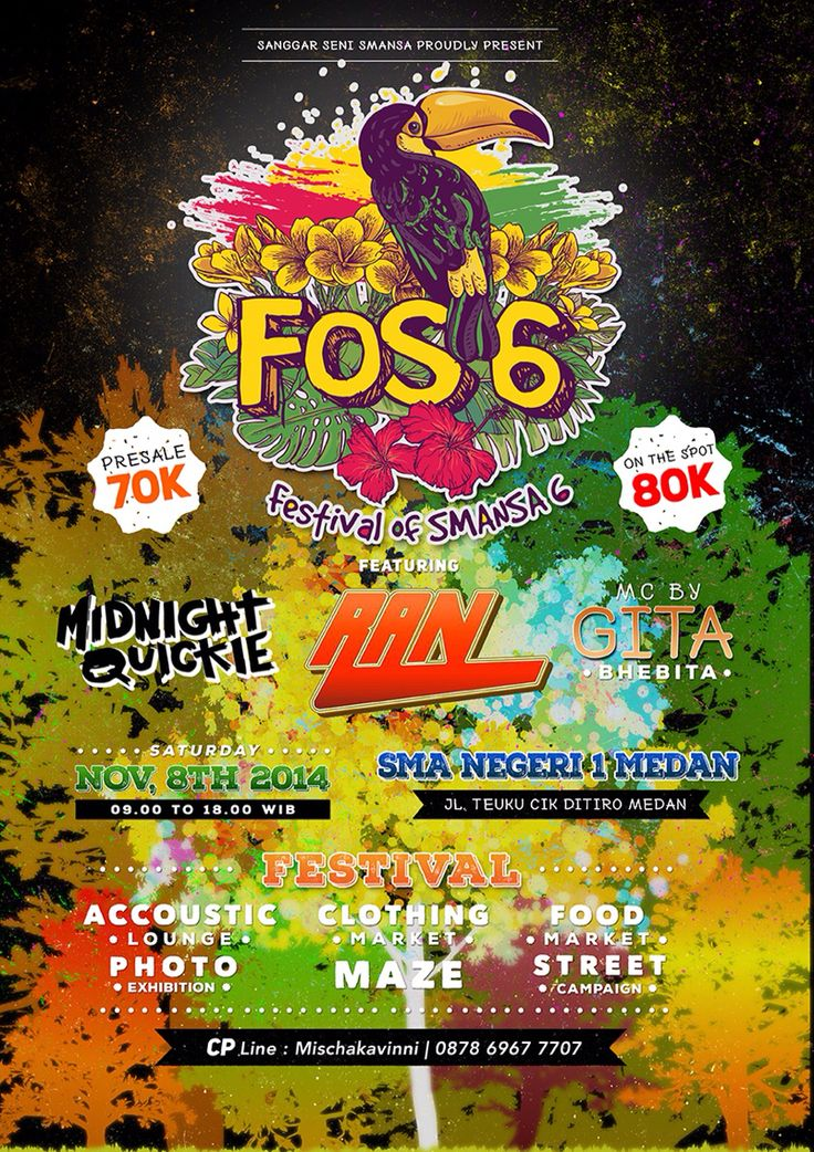 FOS 6 event flyer, exclude logo
