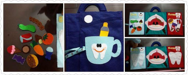 Brincando de dentista (feltro)